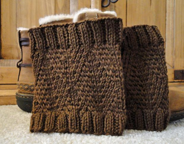 Knitting Patterns Free Boot Cuffs : Diamond Boot Cuffs - Knitting Patterns and Crochet ...