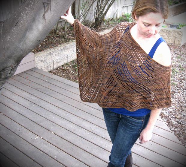 Knitting Pattern For Lace Poncho : Zoe Lace Poncho - Knitting Patterns and Crochet Patterns from KnitPicks.com