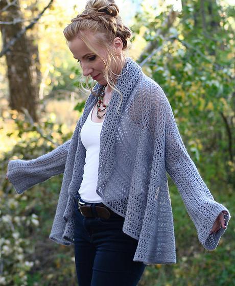 Lace Infinity Cardigan - Knitting Patterns and Crochet Patterns ...