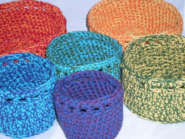 Free Crochet Pattern Newborn Nesting Bowl : Maracas Crochet Bowls, set of 6 - Knitting Patterns and ...