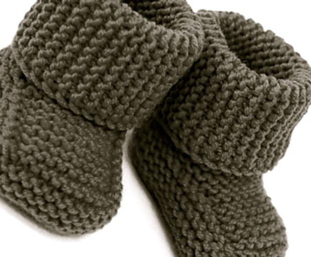 Knitting Pattern For Baby Boy Booties : Oh Baby! Baby Booties - Knitting Patterns and Crochet Patterns from KnitPicks...