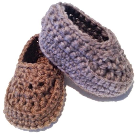 Crochet Pattern Baby Boy Loafers : Oh Baby! Baby Boy Crochet Loafers - Knitting Patterns and ...