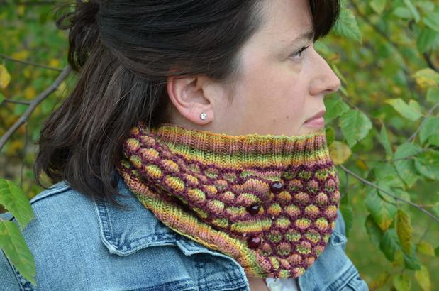 Honey Cowl Knit Pattern : Button Up Honey Cowl - Knitting Patterns and Crochet Patterns from KnitPicks.com