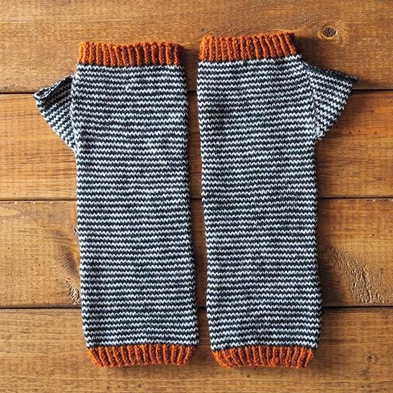 Knit Arm Warmer Pattern : Scrunchy Ombre Arm Warmers - Knitting Patterns and Crochet Patterns from Knit...