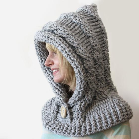 Hooded Cowl Knit Pattern : 51 Degrees North - Crochet Hooded Cowl - Knitting Patterns and Crochet Patter...