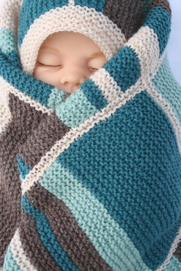 Knit Picky Patterns Baby Blankets : Beach Baby Blanket - Knitting Patterns and Crochet Patterns from KnitPicks.com