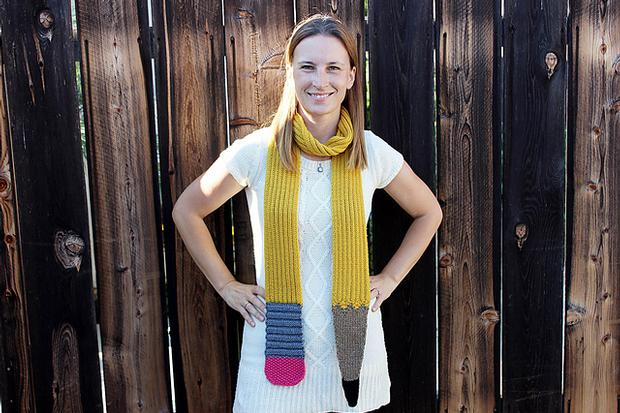 Sinuous Pencil Scarf - Knitting Patterns and Crochet ...