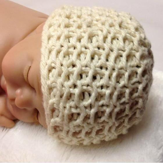 Crochet Cotton Baby Hat Pattern : Organic Cotton Heirloom Baby Hat - Knitting Patterns and ...