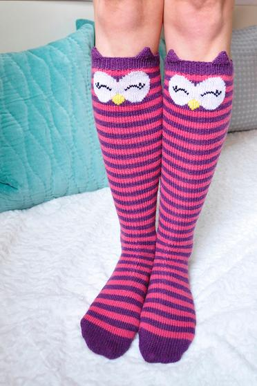 Check Meowt! Knee High Socks - Knitting Patterns and ...