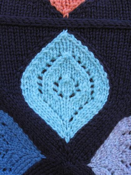 Free Afghan Knitting Patterns Circular Needles : Stained Glass Afghan - Knitting Patterns and Crochet Patterns from KnitPicks.com