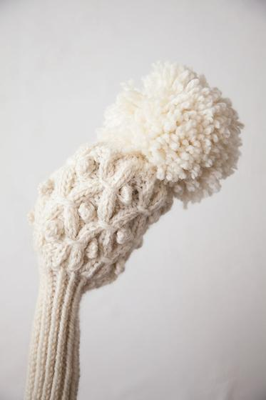 Knitted Golf Club Covers Pattern Free : Highlands Golf Club Cover - Knitting Patterns and Crochet Patterns from KnitP...