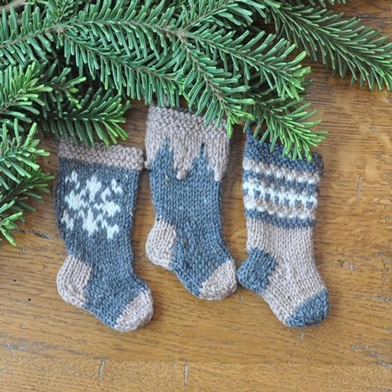 Nordic Christmas Stocking Ornament Set - Knitting Patterns ...
