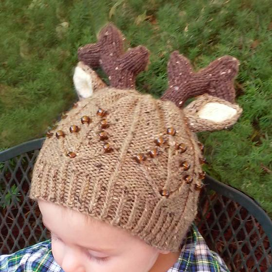 Knitting Pattern Deer Hat : Toddler Deer Hat - Knitting Patterns and Crochet Patterns ...