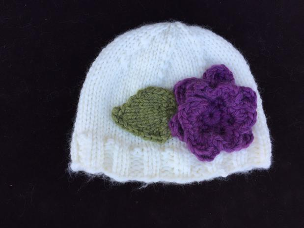 Knitting Pattern For Flowers On Hat : Bulky Knit Flower Hat - Knitting Patterns and Crochet Patterns from KnitPicks...