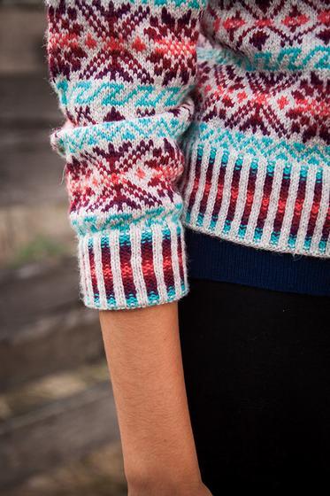 Shetland Rose Cardigan - Knitting Patterns and Crochet Patterns ...