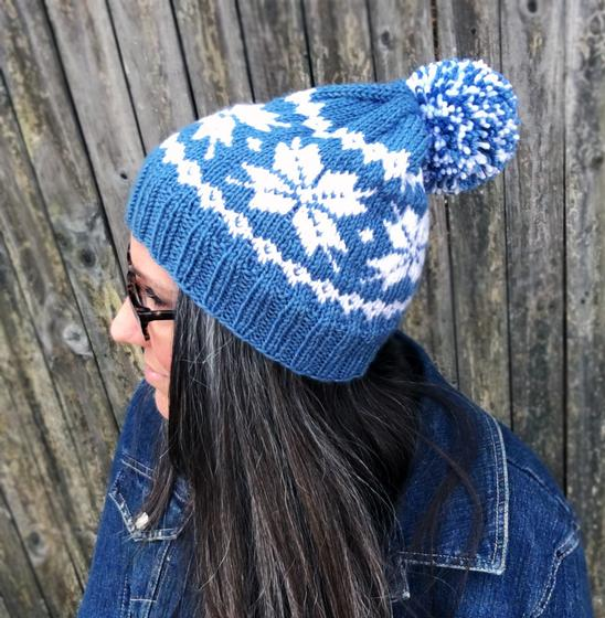 Knitting Patterns For Frozen : Frozen Snowflakes Beanie - Knitting Patterns and Crochet ...