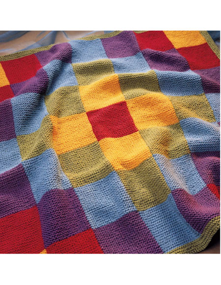 Knitting Patterns Blankets Patchwork : Patchwork Blanket Pattern - Knitting Patterns and Crochet Patterns from KnitP...