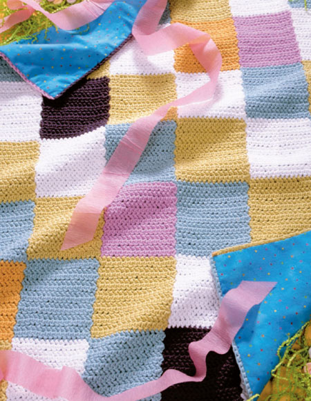 Knitting Pattern For Rainbow Blanket : Rainbow Baby Blanket Pattern - Knitting Patterns and ...