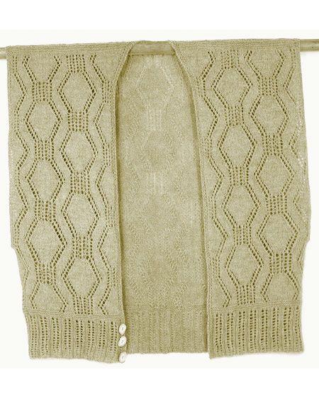 Knit Ruana Pattern Free : Grass-Basket Cropped Ruana Vest Pattern - Knitting Patterns and Crochet Patte...