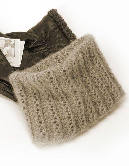 Eyelet Lace Knitting Patterns Free : Easy Eyelet Gaiter Pattern - Knitting Patterns and Crochet Patterns from Knit...