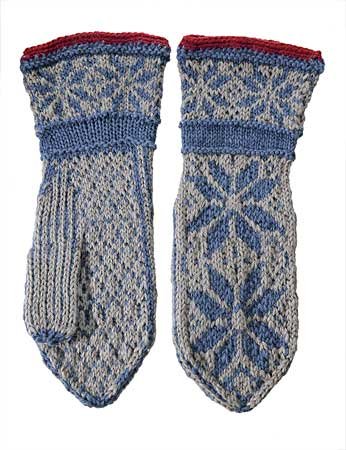 Norwegian Mittens Pattern - Knitting Patterns and Crochet Patterns from KnitP...