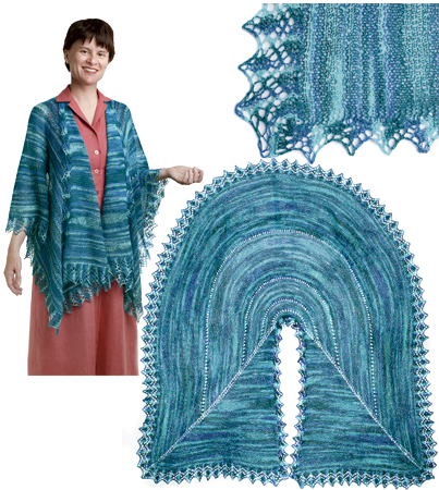 Pie Are Square Shawl Pattern - Knitting Patterns and Crochet Patterns from Kn...