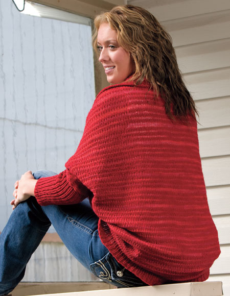 Shrug Knitting Patterns For Beginners : Cozy Cocoon Shrug Pattern - Knitting Patterns and Crochet Patterns from KnitP...