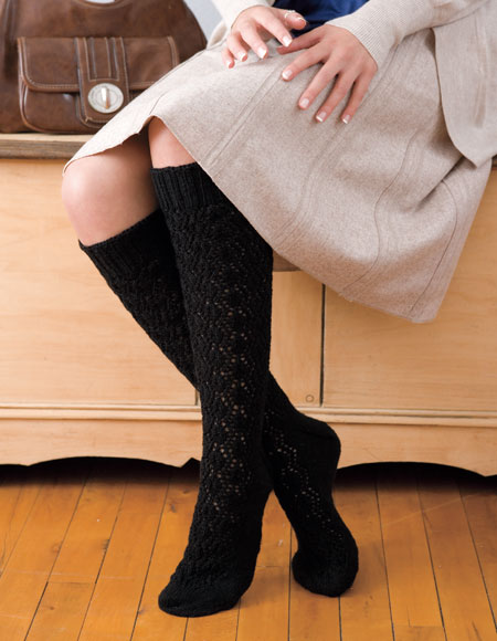 Ternion Knee-High Socks Pattern - Knitting Patterns and ...
