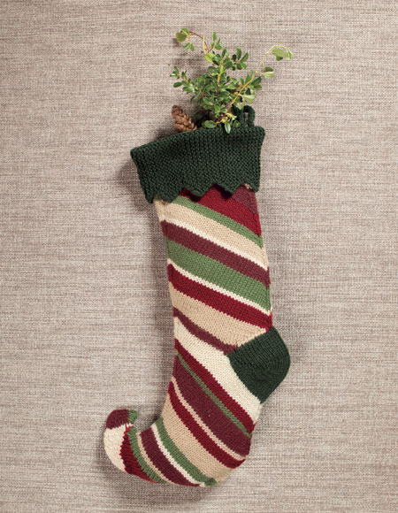 Elf Stocking Pattern - Knitting Patterns and Crochet Patterns from ...