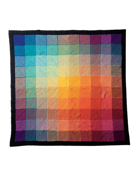 Hue shift afghan, pattern by KnitPicks