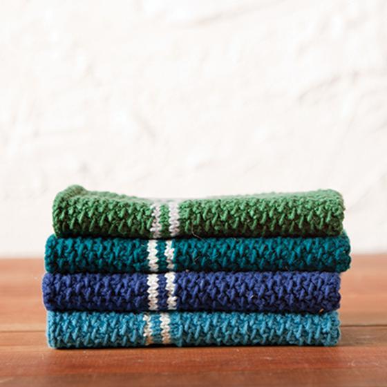 Knit Dish Towel Pattern : Dish Towel Set Pattern - Knitting Patterns and Crochet Patterns from KnitPick...