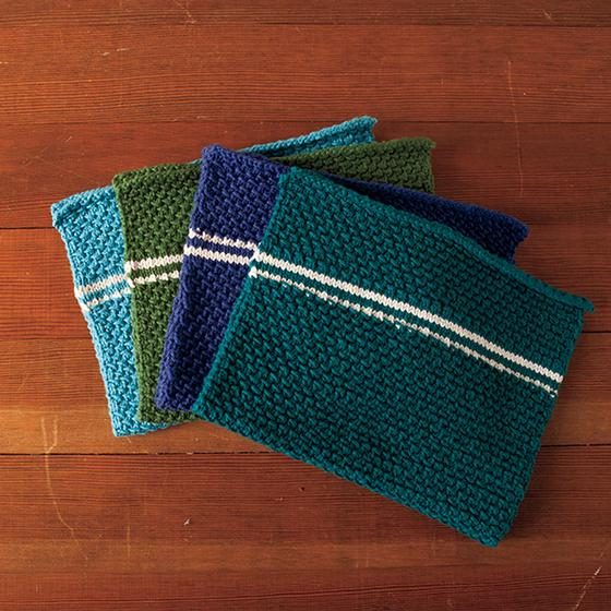 Dish Towel Set Pattern - Knitting Patterns and Crochet Patterns from KnitPick...