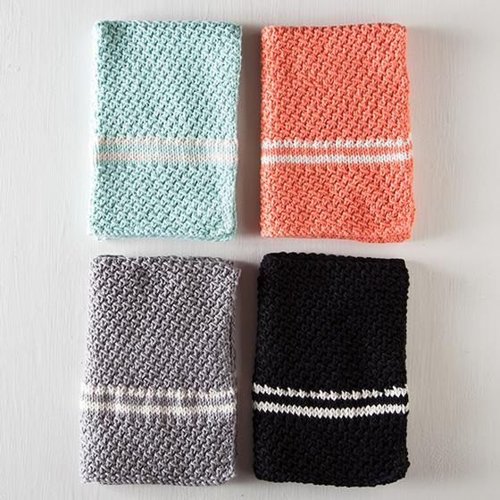 Knitted Chevron Baby Blanket Pattern : Dish Towel Set Pattern - Knitting Patterns and Crochet Patterns from KnitPick...