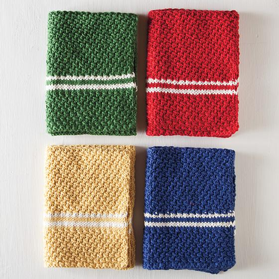 Knit Kitchen Towel Patterns : Dish Towel Set Pattern - Knitting Patterns and Crochet Patterns from KnitPick...