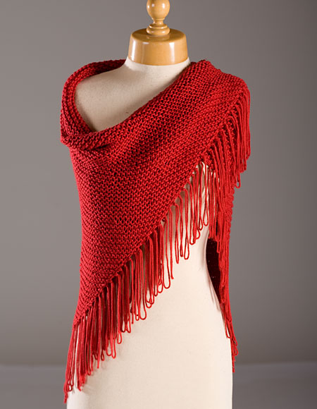 Free Knitting Patterns For Summer Shawls : Red Hat Lady Shawl Pattern - Knitting Patterns and Crochet Patterns from Knit...