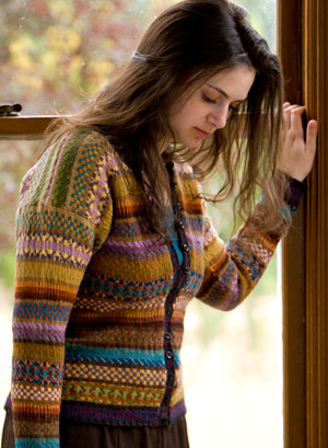 Palette Fair Isle Cardigan - Knitting Patterns and Crochet ...