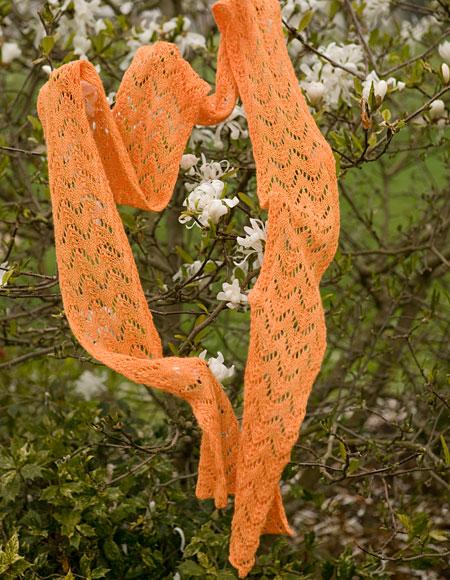 Fishtail Lace Scarf Pattern - Knitting Patterns and Crochet Patterns from Kni...