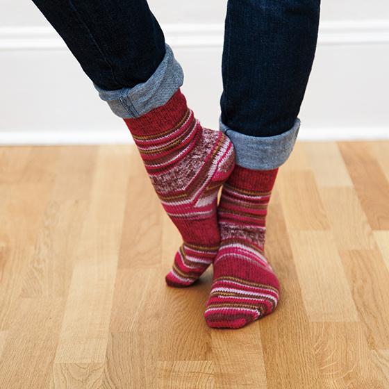 Two at Once, Toe Up, Magic Loop Socks Pattern - Knitting ...