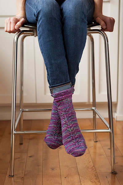 Butterfly Garden Socks Knitting Patterns and Crochet Patterns