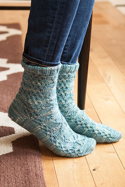 Snowflakes Socks - Knitting Patterns and Crochet Patterns from KnitPicks.com