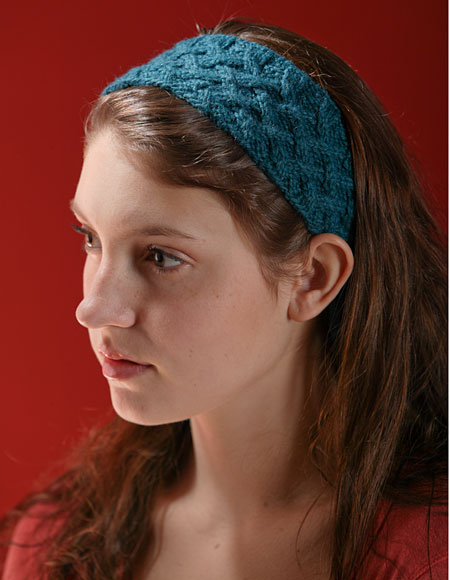 Knitted Headbands Pattern : Lattice Cable Headband Pattern - Knitting Patterns and Crochet Patterns from ...