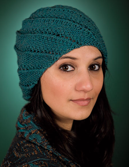 Free Knitting Patterns For Ribbed Hats : Spiral Rib Cap Pattern - Knitting Patterns and Crochet Patterns from KnitPick...