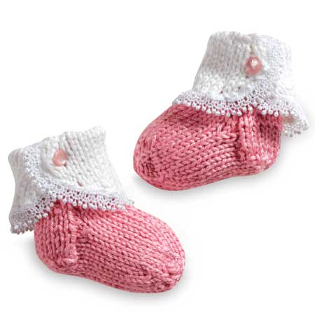 Fancy Baby Socks Pattern - Knitting Patterns and Crochet Patterns from KnitPi...