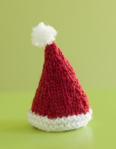 Knitting Pattern Christmas Hat : Santa Hat Pattern - Knitting Patterns and Crochet Patterns from KnitPicks.com