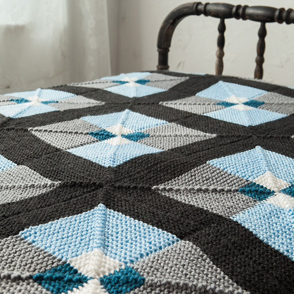Free Knitting Pattern Mitered Afghan : Tilework Afghan Pattern - Knitting Patterns and Crochet ...