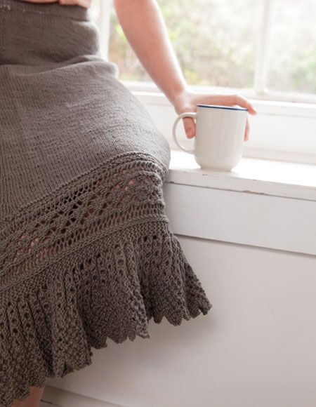 Free Knit Skirt Pattern : Junonia Skirt Pattern - Knitting Patterns and Crochet Patterns from KnitPicks...