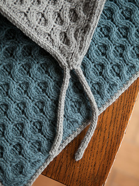 Knitting Pattern For Wallaby Sweater : Wallaby Waffles Tie-on Seat Cushion - Knitting Patterns ...