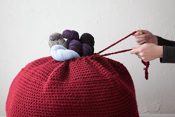 Crochet Pouf - Crochet Pattern