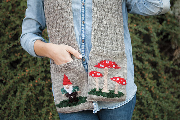 Gnome Knitting Pattern : Gnome and Toadstool Scarf - Knitting Patterns and Crochet Patterns from KnitP...