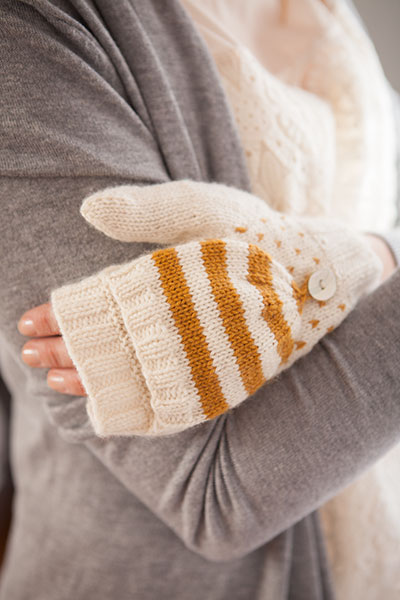 Colorwork Convertible Mitts - Knitting Patterns and Crochet Patterns from Kni...
